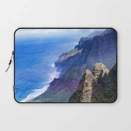 Hawaiian Coastal Cliffs: Aerial View From The Angels Laptop Sleeve