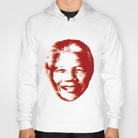 mandela Hoodies featuring NELSON MANDELA by mark ashkenazi
