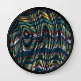 Flexible Lines 11 Wall Clock