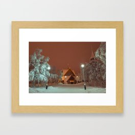 Kiruna Church In the Winter Snow Framed Art Print