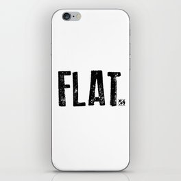 Flat Earth iPhone Skin