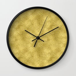 Gold ,Glitter and Chevrons Wall Clock