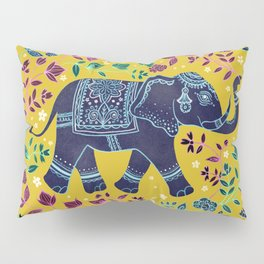 Blue Elephant Pillow Sham