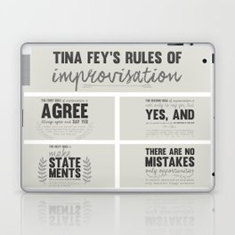 Tina Fey's Rules of Improvisation Laptop & iPad Skin