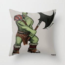 Green Warrior Throw Pillow