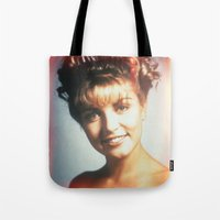 "laura palmer Tote Bags featuring Twin Peaks ""Laura Palmer"" by Spyck"