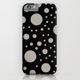 Polka Dots in Black and White iPhone Case