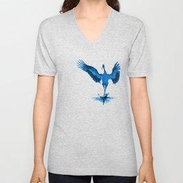 Blue Crane Unisex V-Neck