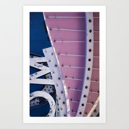 Pink & Blue Neon Art Print