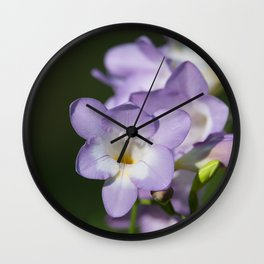 Lavender Freesias Wall Clock