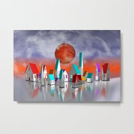 just a little village Metal Print