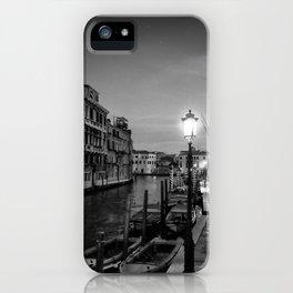 lamplit street in venice iPhone Case