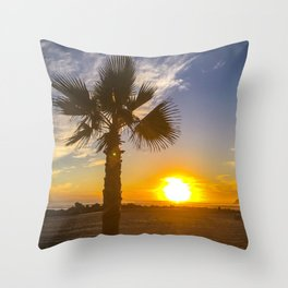 Sunset on Coronado Beach, California Throw Pillow