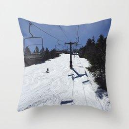 Chairlift Killington Throw Pillow
