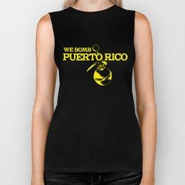 We Bomb Puerto Rico Biker Tank