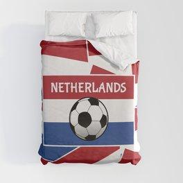 Netherlands Flag Football Duvet Cover