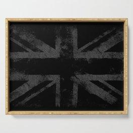 Grey Grunge UK flag Serving Tray