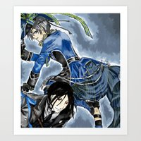 black butler Art Prints featuring Black Butler by Abbie James