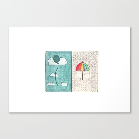 Always trust the weather Canvas Print