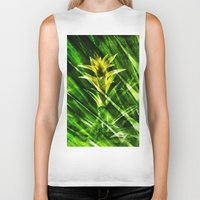 tropical Biker Tanks featuring Tropical by cafelab