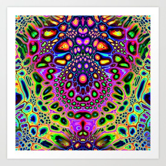 Abstract Spectral Symmetry Art Print