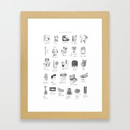 Alphabet poster Framed Art Print
