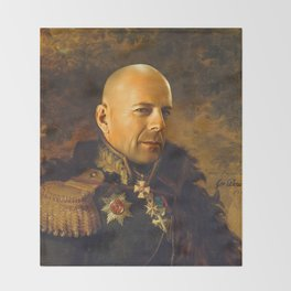 Bruce Willis - replaceface Throw Blanket
