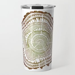 Tree Rings – Watercolor Ombre Travel Mug