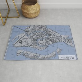 Venice Fish Map - from The Merchant of Venice graphic novel Rug