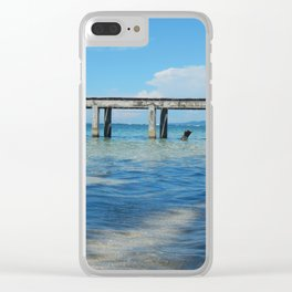 Cayo Zapatilla Clear iPhone Case