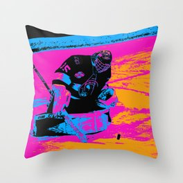 And the Puck Stops Here! - Hockey Goalie Throw Pillow