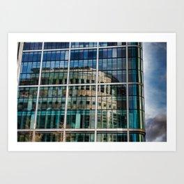 London Photography Canary Wharf Reuters Art Print