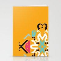 arabic Stationery Cards featuring Orange Arabic by Farah Saheb