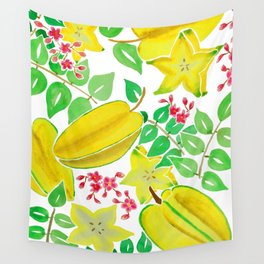 Starfruit Season Wall Tapestry