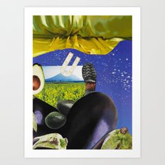 Tumbling through Stardust into the Wide Open Art Print