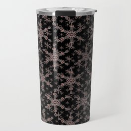 Snow flake of Ruby and Gold Travel Mug