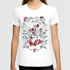 Dala Horse SMALL White Womens Fitted Tee