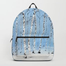Late Afternoon Snowstorm in the Forest Backpack