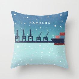 Hamburg winter Throw Pillow