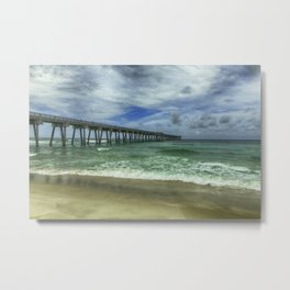 Fishing Pier Metal Print