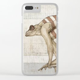 Swimmer frog Clear iPhone Case
