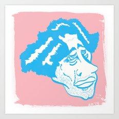 Scruff in Blue Art Print