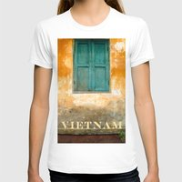 vietnam T-shirts featuring Antique Chinese Wall - VIETNAM by CAPTAINSILVA