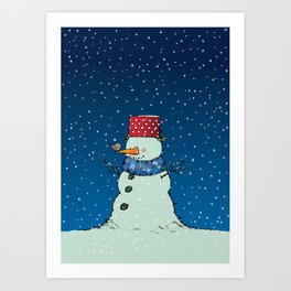 A song for Mr. Snowman Art Print
