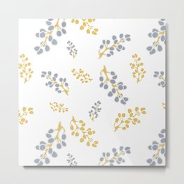 Garden Swirl Collection - Bouquet Bits Metal Print