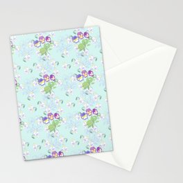 Pansies Neck Gator Blue Pansy Stationery Cards