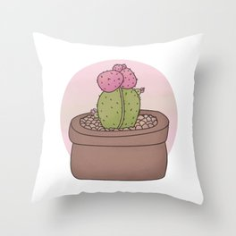 Moon Cactus Guardians Throw Pillow