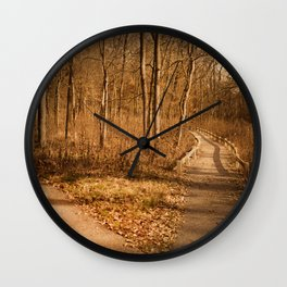 The Path Less Traveled Wall Clock