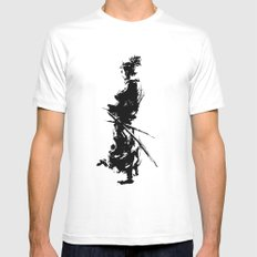 samurai White MEDIUM Mens Fitted Tee