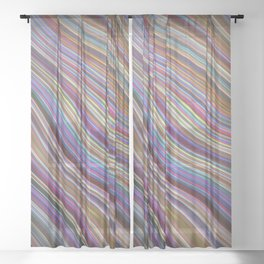 Wild Wavy Lines 20 Sheer Curtain